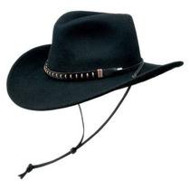 Gorra Lana Crushable Negro Hombres Creek Sombrero De Fieltr