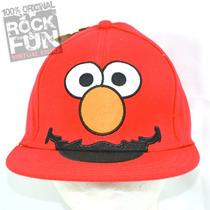Elmo Sesame Street Gorra Flatbill Importada 100% Original