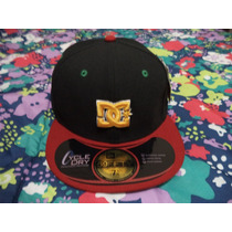 Gorra Negra-vino Dc Shoes New Era 100% Original 7 1/4