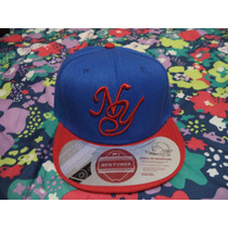 Gorra Azul C/rojo Yankees De Ny New Power 100% Original