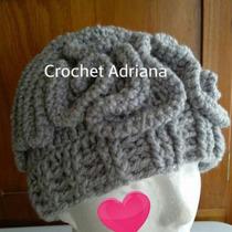 Gorro Cerebro Tejido Crochet