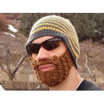 Gorro Con Barba. Excelente Para El Frio, Disfraz, Moda 2015.