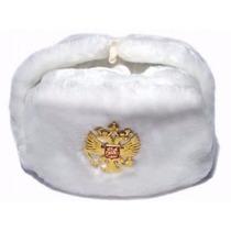 Sombrero Ushanka Militar Ruso Blanco