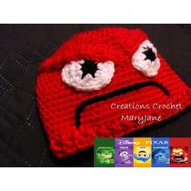 Hermosos Gorros Crochet , Personajes Pelicula Intensamente