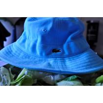 Gorro Lacoste Pique Bucket Hcap Azurine Rk3104 51 Jal
