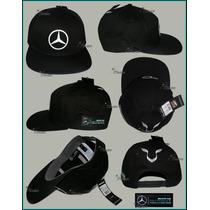 Gorra Lewis Hamilton Visera Plana Mercedes Amg 2015 Negra