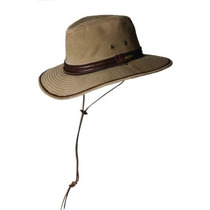 Gorra Stetson Hombres Safari Twill Hat Bronce, Grande