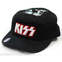 Kiss - Integrantes Gorra Tipo Cadete Unitalla Rock Metallica