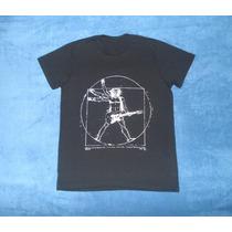 Playera Camiseta Leonardo Da Vinci Vitrubio Rockeando Music