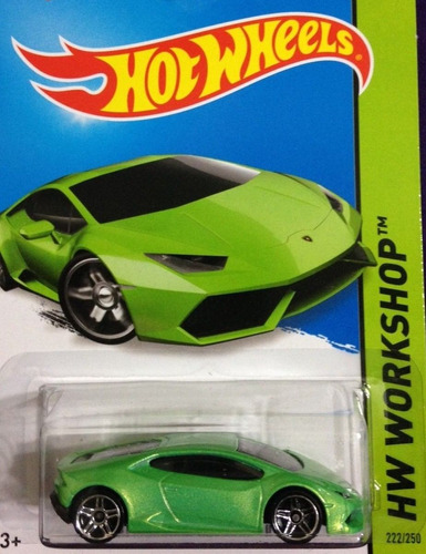 hotwheels lamborghini huracan lp verde 222 2015 en mercadolibre. Black Bedroom Furniture Sets. Home Design Ideas