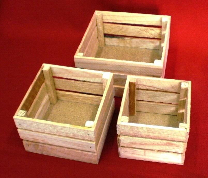 Huacal rejita madera manualidades trabajos escolares 12x18 - Articulos de madera para manualidades ...