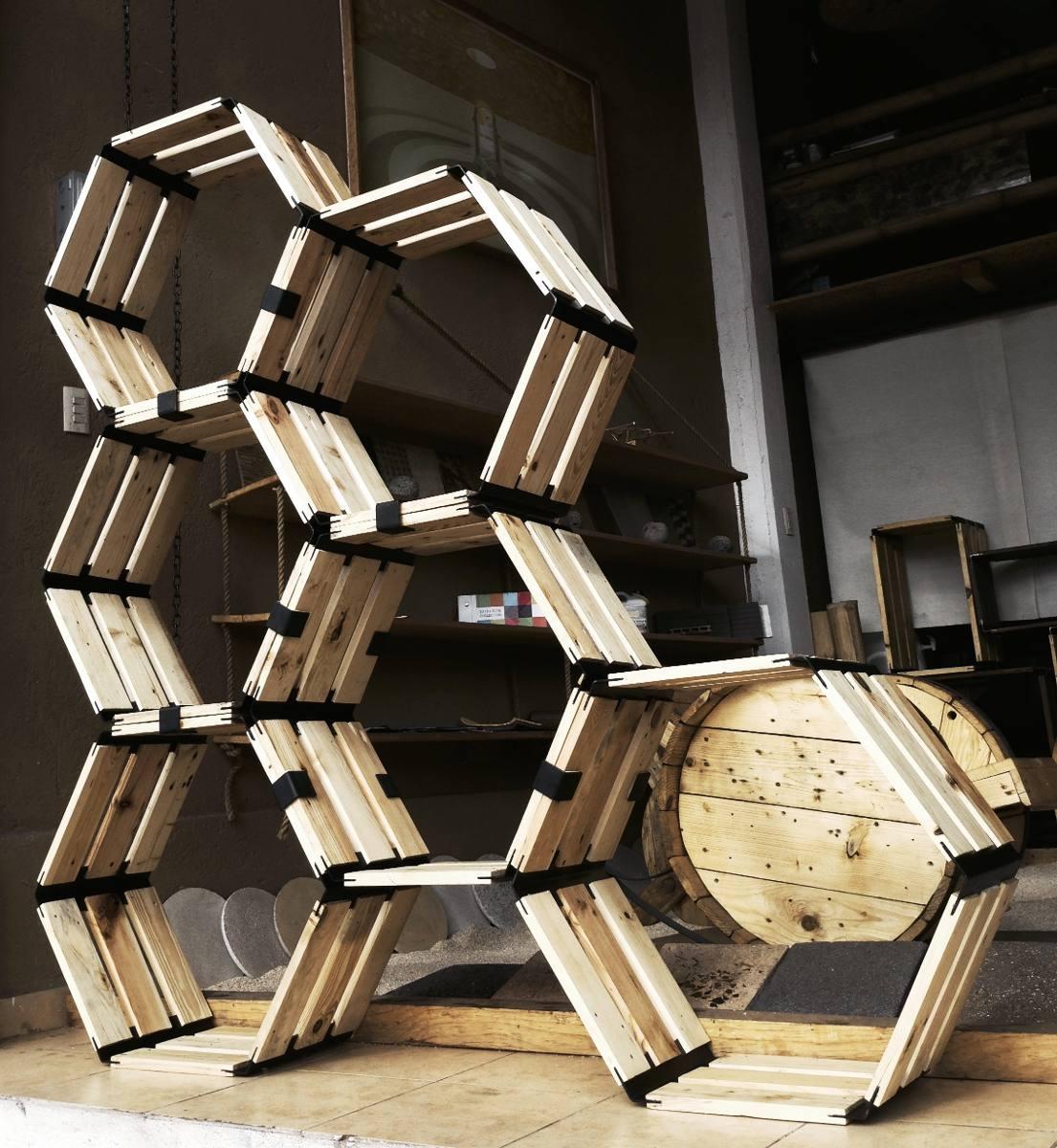 Huacalli hexagonal precio por hex gono de madera for Precio encimera de madera