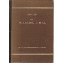 Diccionario De Estilo. Alemán-francés. Albrecht Reum.