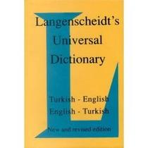 Diccionario Ingles-turko De Langenscheidt