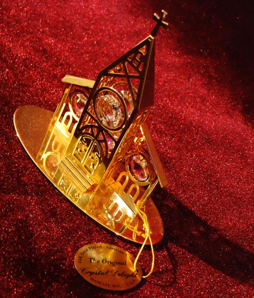 Iglesia en ba o de oro 24 k con cristal austriaco 319 - Bano de oro precio ...