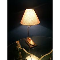 Lámpara Hecha Con Horma De Zapato Antigua