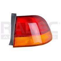 Calavera Exterior Honda Civic 96-98 4p Ambar/rojo S/arnes