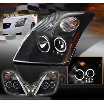 Nissan Sentra 2007 - 2009 Juego De Faros Con Ojo De Angel