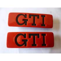 Vw Golf Gti A2 Emblemas De Moldura Puerta Delgada 90-92 Par