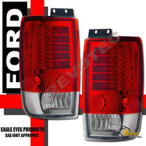 Calaveras Rojas Led Ford Expedition 97 98 99 00 01 02 Xenon