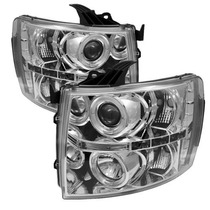 Faros Lupa Led Ojo Angel Chevrolet Cheyenne 2007 2008 2009
