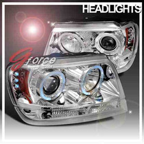 Faros Proyectores Cromados Jeep Grand Cherokee 99 00 01 Led