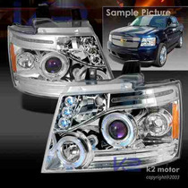 Faros Proyectores Cromados Chevrolet Tahoe 07 08 09 Led Eye
