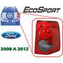 08-12 Ford Ecosport Calavera Trasera Lado Derecho