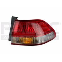 Calavera Exterior Honda Accord 2001-2002 4 Puertas Bco/rojo