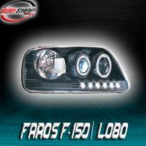 Faros Para Lobo / F-150 Con Ojo De Ángel Mod. 1997 - 2008