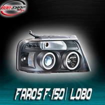 Faros Para Lobo / F-150 Con Ojo De Ángel Mod. 2004 - 2007