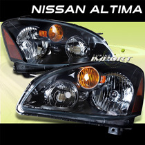 Altima Nissan Faros Fondo Negro 2002 2003 2004 Elegantes **