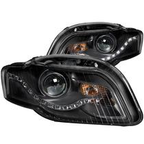 Audi A4 05-09 Faros De Projector Negros(r8 Led Style)