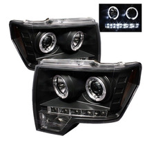 Faros Negros Lupa Ojo Angel Led Ford F150 Lobo 2009 - 2014
