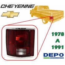 78-91 Cheyenne Calavera Trasera Filo Cromado Izquierda Depo