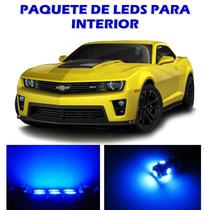 Chevrolet Camaro 2010 2015 Paquete De Led Interior Kit Azul