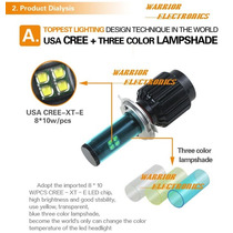Foco Bulbo Led Cree Xte 8000lm 80watt H4 H13 9007 9004