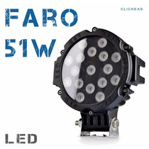 Faro Led 51 W Con 17leds Todo Terrenos 4x4 Jeep Escarbadora