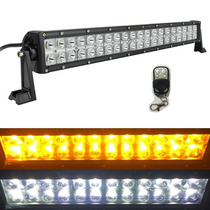 Barra Led 120w 22 Pulg Ambar Bco Jeep Polaris Rzr Can Am