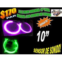 Luz Neon Redonda 10 Pulgada Para Bocina Con Sensor De Sonido