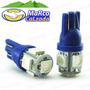 Led T10 Azul De Pellizco 12v 5050 5smd