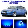 Mazda 3 2004 2009 Paquete Led Para Interior Kit Azul 04 09