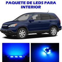 Honda Crv 2007 2011 Paquete Led Para Interior Kit Azul 07 11