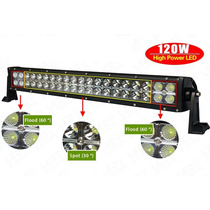 Barra De Led 22 /24 Pulgadas 120w Flood/spot Gratis Switch