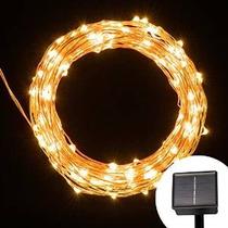 Luces Solares De Cuerda, 200 Led Al Aire Libre Starry Luces