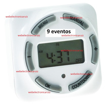 Temporizador Digital 9 Eventos Programables 120 V / 1750 W