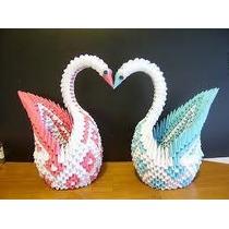 Cisne De Origami 3d Para Fiestas O Decoracion En Casa
