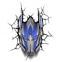 Lampara De Pared 3d Transformer Optimus Prime