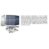 Planta Solar De Interconexión A Cfe 11.2kw/día