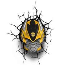 Lampara De Pared 3d Transformers Bumblebee